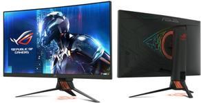 "Monitor Gaming TN LED Asus ROG Swift 27"" PG27VQ, WQHD (2560 x 1440), HDMI, DisplayPort, USb 3.0, Ecran Curbat, G-Sync, 165 Hz, 1 ms (Negru)"