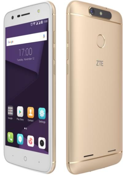 Telefon Mobil ZTE Blade V8 Lite, Procesor Octa-Core 1.0GHz/1.5GHZ, IPS LCD Multitouch 5inch, 2GB RAM, 16GB Flash, 8MP, Wi-Fi, 4G, Dual Sim, Android (Auriu)