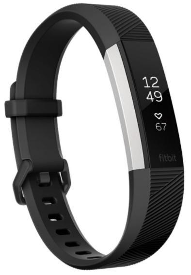 Bratara Fitness Fitbit Alta HR FB408SBKS-EU, Marimea S (Negru/Argintiu)