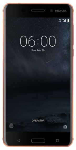 Telefon Mobil Nokia 6, Procesor Octa-Core 1.4 GHz, IPS LCD Capacitive Touchscreen 5.5inch, 4GB RAM, 32GB Flash, 16MP, Wi-Fi, 4G, Dual Sim, Android (Maro)