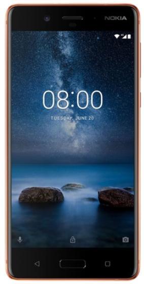 Telefon Mobil Nokia 8, Procesor Octa-Core 2.5 / 1.8GHz, IPS LCD Capacitive touchscreen 5.3inch, 4GB RAM, 64GB Flash, Dual 13MP, Wi-Fi, 4G, Dual Sim, Android (Maro)