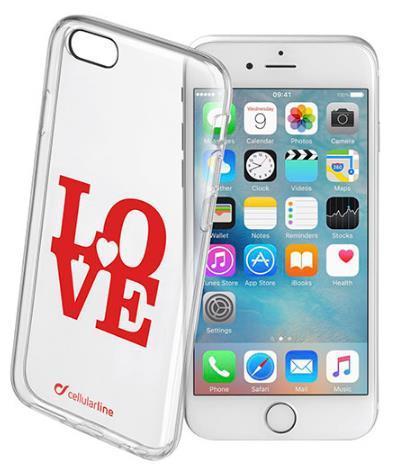 Protectie spate Cellularline STYCLOVEIPH647 pentru iPhone 6, iPhone 6S (Transparent)