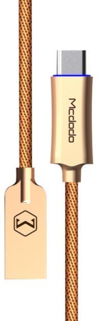 Cablu de date Mcdodo Type-C, QC3.0, Auto Disconnect, 1m (Auriu)