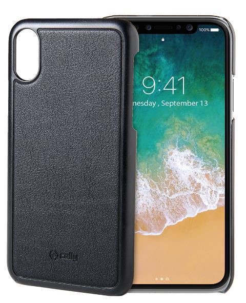 Protectie spate Celly GHOSTCOVER900BK pentru iPhone X (Negru)