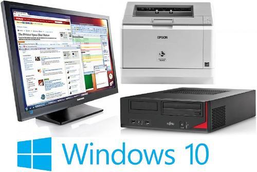 Pachet Sistem PC Refurbished FUJITSU SIEMENS E410 (Procesor Intel® Core™ i5-3470 (6M Cache, up to 3.60 GHz), Ivy Bridge, 4GB, 250GB HDD, Intel® HD Graphics 2500, Win10 Pro) + Monitor Samsung SyncMaster S22A450BW + Imprimanta Laser Epson M2400DN