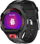 """Smartwatch Alcatel Watch GO, IPS LCD 1.22"""", Bluetooth, Bratara silicon, Rezistent la apa si praf (Negru)"""