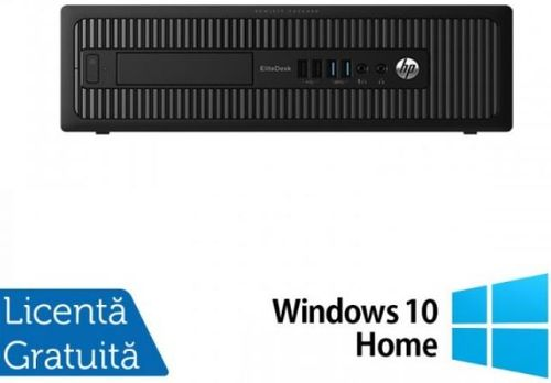 Sistem PC Refurbished HP EliteDesk 800G1 SFF (Procesor Intel® Core™ i5-4570 (6M Cache, up to 3.60 GHz), Haswell, 4GB, 250GB HDD, Intel® HD Graphics 4600, Win10 Home, Negru)