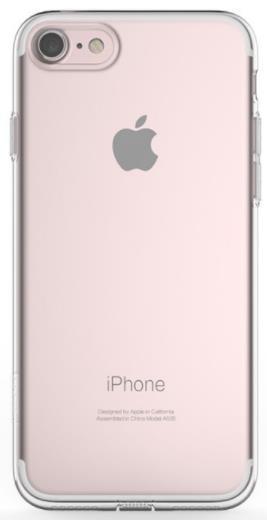 Protectie spate Mcdodo Silicon Hermit Pink, 0.4mm pentru iPhone 8 / 7 (Transparent)