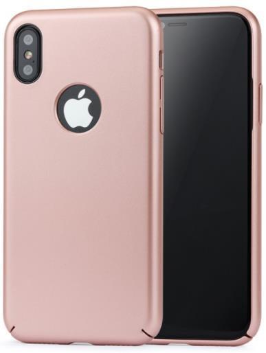 Protectie spate Meleovo 360 Shield pentru iPhone X (Rose Gold)