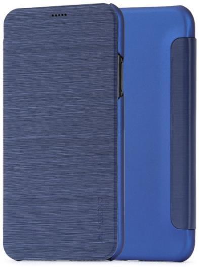 Husa Meleovo Smart Flip pentru iPhone X (Albastru)