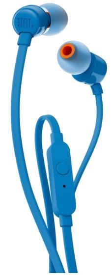 Casti Stereo JBL T100, Microfon (Albastru)