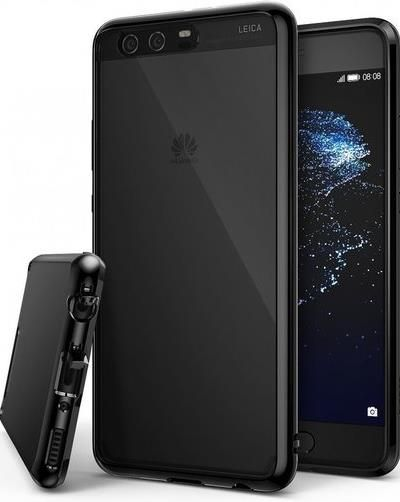 Husa Ringke Fusion Ink Black pentru Huawei P10 Plus + BONUS folie protectie display Ringke (Transparent)