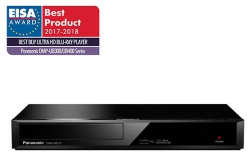 Blu-ray Player Panasonic DMP-UB310EGK, Ultra HD, Wi-Fi, USB, HDMI (Negru)