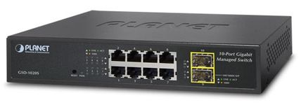 Switch Planet GSD-1020S, Gigabit, 8 Porturi, 2 x SFP