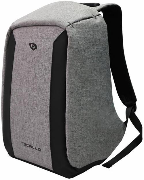 Rucsac Laptop Dicallo LLB993015SL, 15.6inch (Gri-Negru)