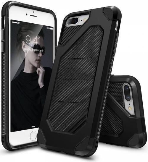 Protectie spate Ringke Armor Max 153851 pentru iPhone 7 Plus/8 Plus (Negru) + Folie protectie