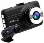 "Camera auto Smailo DoubleX, Dual camera, Extreme HD/Full HD, Ecran 3"", Microfon (Negru)"