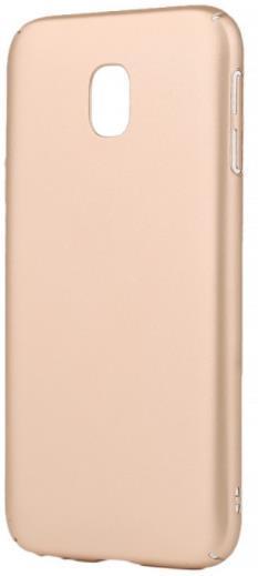 Protectie Spate Lemontti Hard Rubber Slim LEMHRJ317A pentru Samsung Galaxy J3 (2017) (Auriu)