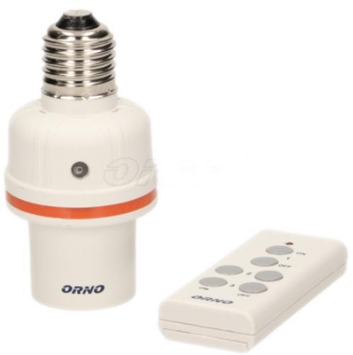 Soclu bec cu telecomanda Orno OR-GB-431, E27 (Alb)