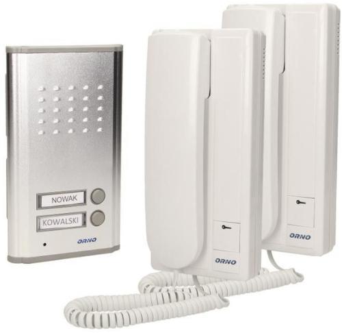 Interfon pentru doua familii Orno OR-DOM-RL-903 (Alb)
