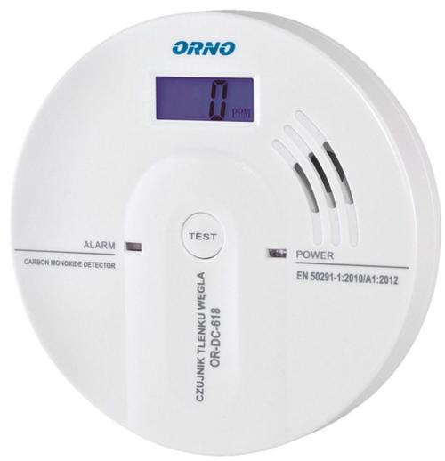 Detector monoxid de carbon cu baterii Orno OR-DC-618 (Alb)