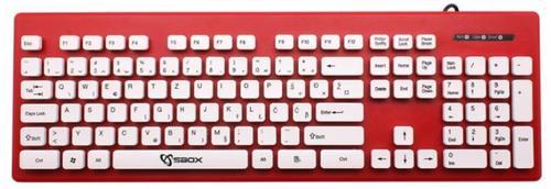 tastatura sbox k-16, usb (rosu)