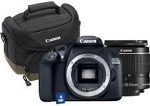 "Aparat Foto D-SLR Canon EOS 1300D + Obiectiv EF 18-55 IS STM + Geanta 100EG + Card 8GB, 18 MP, Ecran 3"" LCD, Filmare Full HD (Negru)"