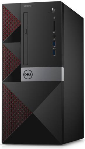 Sistem PC Dell Vostro 3667 MT (Procesor Intel® Core™ i3-6100 (3M Cache, up to 3.70 GHz), Skylake, 4GB, 500GB HDD @7200RPM, Intel® HD Graphics 530, Linux)