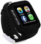 "Smartwatch iUni Kid3, 1.54"", GPS, Bluetooth, Bratara silicon, dedicat pentru copii (Negru)"