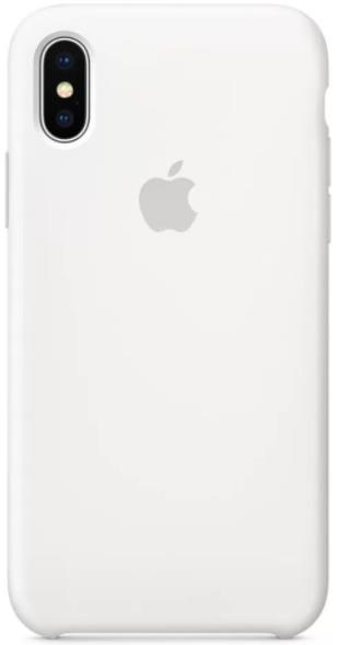 Protectie Spate Apple Silicone MQT22ZM/A pentru Apple iPhone X (Alb)