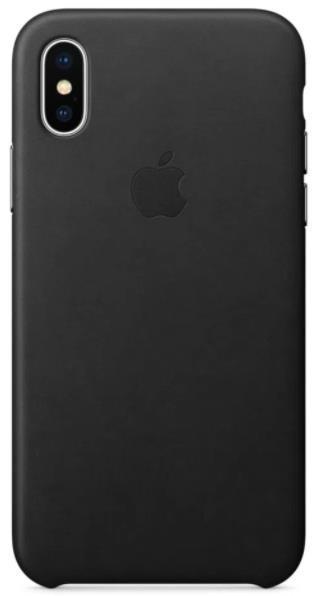 Imagine indisponibila pentru Protectie Spate Apple Leather MQTD2ZM/A pentru Apple iPhone X (Negru)