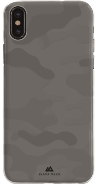 Protectie Spate Black Rock Camouflage 180687 pentru Apple iPhone X (Transparent)