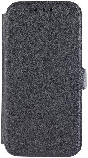 Husa Book Cover Star Pocket pentru Samsung Galaxy A3 2017 (Negru)