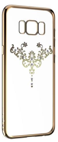 Protectie Spate Devia Silicon Iris Champagne pentru Samsung Galaxy S8 Plus (Auriu/Transparent)