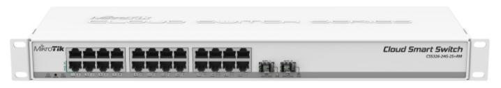Switch MikroTik Cloud Smart CSS326-24G-2S+RM, Gigabit, 24 Porturi