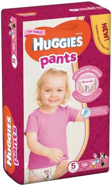 Imagine indisponibila pentru Scutece-chilotel Huggies Jumbo pack 5, Girl, 12-17 kg, 34 buc