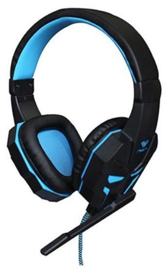 Casti Gaming Acme Aula Prime, Microfon (Negru/Albastru