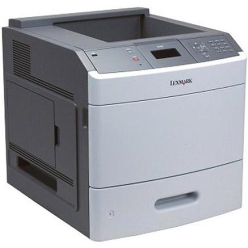 Imprimanta Refurbished Lexmark T654DN, 53 PPM, Duplex, Retea, 1200 x 1200, Laser, Monocrom, A4