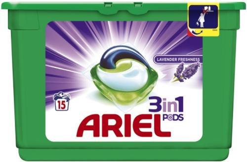 Detergent capsule Ariel Lavanda, 15 spalari