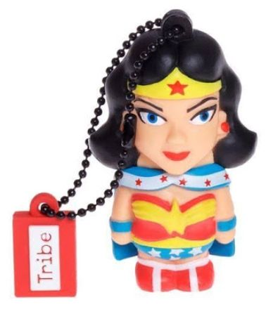 stick usb tribe dc comics wonder woman fd031503, 16gb, usb 2.0 (multicolor)