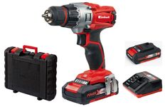 Masina de gaurit si insurubat cu acumulator Einhell Power X-Change TE-CD 18/2 Li Kit, 18 V, 2 x 1.5 Ah, 44 Nm