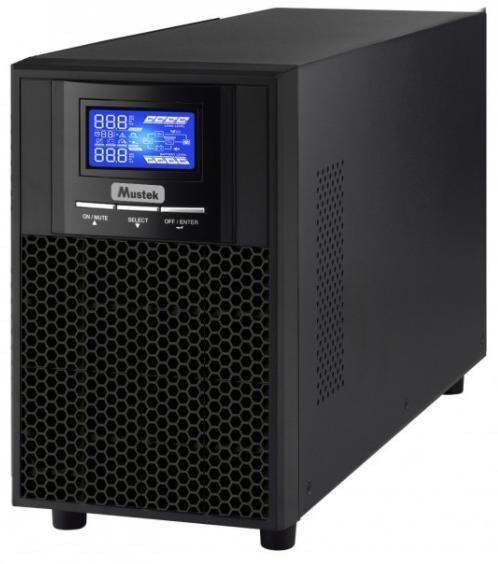 UPS Mustek PowerMust 1000 Sinewave LCD Online, 1000VA/1000W, 4x IEC (Negru)
