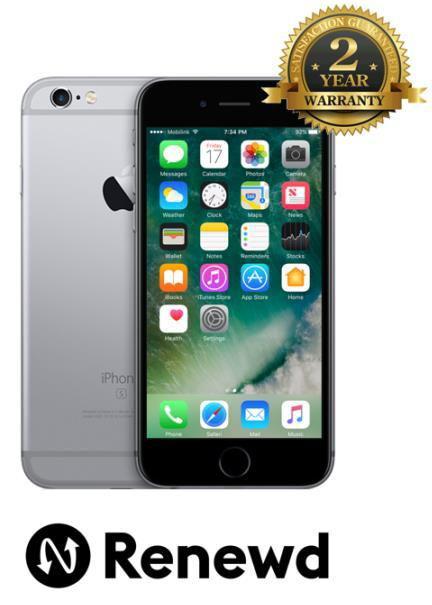 Telefon Renewd Apple iPhone 6S, Procesor Apple A9, IPS LED-backlit Multi‑Touch 4.7inch, 2GB RAM, 16GB flash, 12MP, Wi-Fi, 4G, iOS (Gri Spatial)