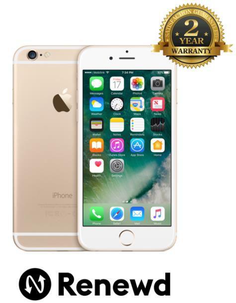 Telefon Renewd Apple iPhone 6S, Procesor Apple A9, IPS LED-backlit Multi‑Touch 4.7inch, 2GB RAM, 64GB flash, 12MP, Wi-Fi, 4G, iOS (Auriu)