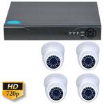 Kit supraveghere analogic Guard View KITGV720P4D, 4 camere Dome interior, 1MP 720p, Compresie H264