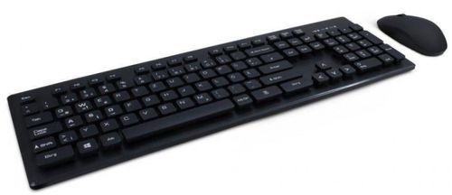 kit inter-tech eterno km-232w, tastatura + mouse, wireless (negru)