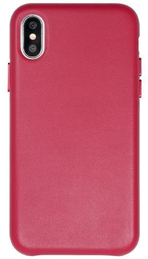 Protectie Spate Just Must Origin Leather pentru Apple iPhone X (Rosu)