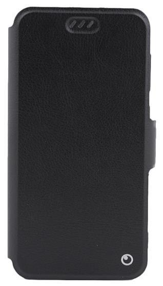 Husa Book Cover Lemontti Elegant TLEHP20LN pentru Huawei P20 Lite (Negru)