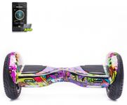 Scooter electric (hoverboard) Freewheel Monster S2 SMART, Graffiti mov (Multicolor)