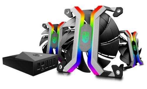 Imagine indisponibila pentru Kit Ventilatoare Deepcool GamerStorm MF120, 120mm, 3 buc. (Led RGB)